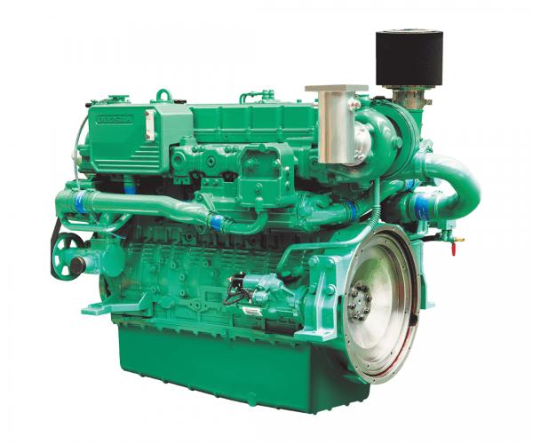 Doosan 4L126TI Heavy Duty Marine Diesel Propulsion Engine, Turbocharged and Intercooled Marine Engine.