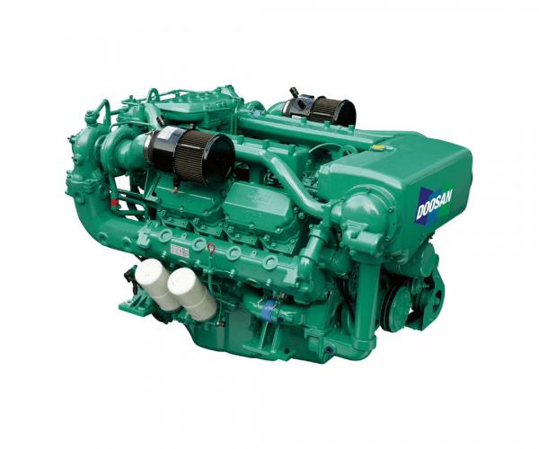 Doosan 4V158TIH Heavy Duty Marine Diesel Propulsion Engine, 4-Valve Turbocharged and Intercooled Marine Diesel Engine.