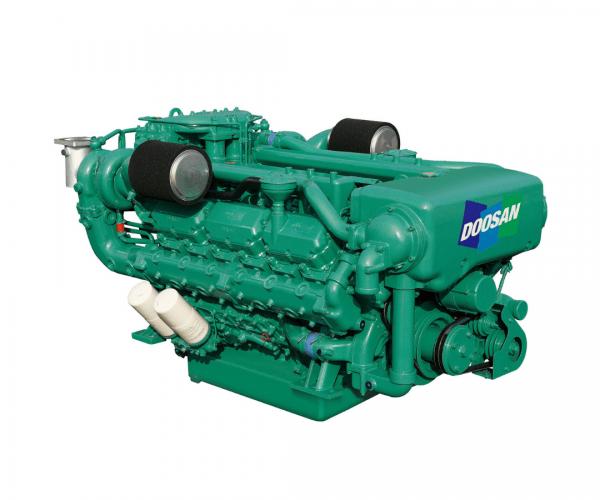 Doosan 4V222TIH Heavy Duty Marine Diesel Propulsion Engine, 4-Valve Turbocharged and Intercooled Marine Engine.